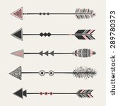 A Set Of Five Arrows With...