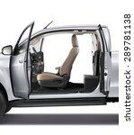 Modern Car With Open Door ...