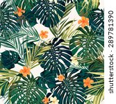 summer colorful hawaiian... | Shutterstock . vector #289781390