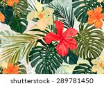 summer colorful hawaiian... | Shutterstock . vector #289781450