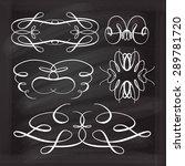 set of elegant white flourishes ... | Shutterstock .eps vector #289781720