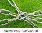silver iron chain  green... | Shutterstock . vector #289782020