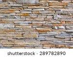 Modern Pattern Of Stone Wall...