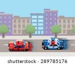 police car chase pixel art... | Shutterstock .eps vector #289785176