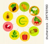 basics of healthy nutrition.... | Shutterstock .eps vector #289785980