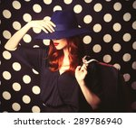 portrait of a redhead girl with ... | Shutterstock . vector #289786940