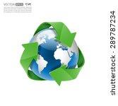 global recycle  arrow around... | Shutterstock .eps vector #289787234