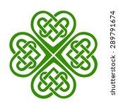 celtic heart  shamrock  st....   Shutterstock .eps vector #289791674