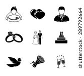 set of wedding icons   cake ... | Shutterstock .eps vector #289792664