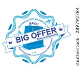 big offer   special discounts   ... | Shutterstock .eps vector #289792784