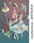 3d isometric london city poster | Shutterstock .eps vector #289792919