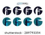 lighthouse round badges.... | Shutterstock .eps vector #289793354