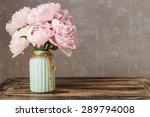 bouquet of pink peonies  copy...   Shutterstock . vector #289794008