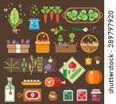 fresh vegetables from the... | Shutterstock .eps vector #289797920