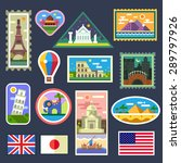 stickers from various countries ... | Shutterstock .eps vector #289797926