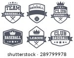 set of vintage baseball club... | Shutterstock .eps vector #289799978