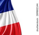 france flag of silk and white... | Shutterstock . vector #289802144
