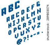 isometric alphabet for your... | Shutterstock .eps vector #289803074