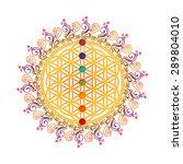 flower of life  sacred geometry ... | Shutterstock . vector #289804010