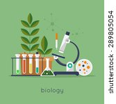 biology laboratory workspace... | Shutterstock .eps vector #289805054