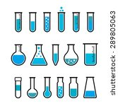 chemical beaker icons set.... | Shutterstock .eps vector #289805063