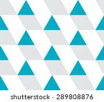 Stock vector blue and gray triangular prism seamless pattern on white triangle geometric pattern modern 289808876