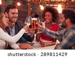 group of friends at rooftop... | Shutterstock . vector #289811429