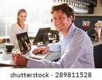 male restaurant manager working ... | Shutterstock . vector #289811528