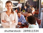 female restaurant owner ... | Shutterstock . vector #289811534
