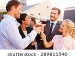 colleagues drinking after work... | Shutterstock . vector #289811540