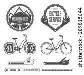 set of vintage bicycle badges... | Shutterstock .eps vector #289815644