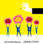 put money in one place | Shutterstock .eps vector #289817999