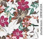 seamless vector floral pattern. ...   Shutterstock .eps vector #289818104