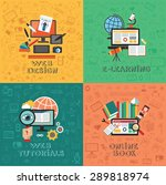 flat vector concept education... | Shutterstock .eps vector #289818974