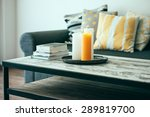 modern wooden coffee table and... | Shutterstock . vector #289819700
