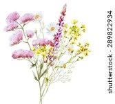 watercolor illustration bouquet ... | Shutterstock . vector #289822934