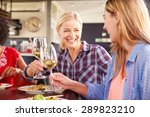 two female friends at a... | Shutterstock . vector #289823210