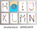 hand drawn alphabet funny style.... | Shutterstock .eps vector #289824659