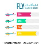 flying planes set with banners. ... | Shutterstock .eps vector #289824854