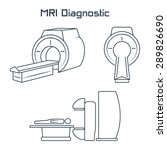 mri diagnostic vector icons | Shutterstock .eps vector #289826690