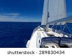 luxury yacht at sea race.... | Shutterstock . vector #289830434