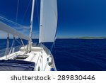 luxury yacht at sea race.... | Shutterstock . vector #289830446