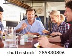 a group of friends having lunch ...   Shutterstock . vector #289830806