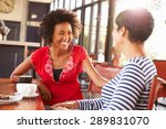 two female friends talking at a ... | Shutterstock . vector #289831070