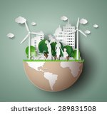 paper art concept of eco... | Shutterstock .eps vector #289831508