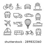 transport line icons | Shutterstock . vector #289832360