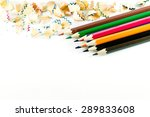 color pencil on white background | Shutterstock . vector #289833608