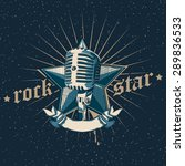 vector rock star emblem | Shutterstock .eps vector #289836533
