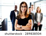 young white female executive... | Shutterstock . vector #289838504