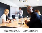 black male executive smiling at ... | Shutterstock . vector #289838534